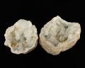 水晶 ジオード(晶洞) 2個セット No.3