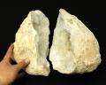 水晶 ジオード(晶洞) 2個セット No.25