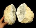 水晶 ジオード(晶洞) 2個セット No.26