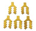 御幣 (白木御幣 金 5寸用) 5枚組