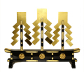 金幣三本立腰付 左三巴紋付 串高105cm