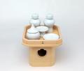 【神具セット】三方 木曽桧4寸5分・土器セット