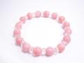 ピンクオパール&水晶 デザインブレスレット