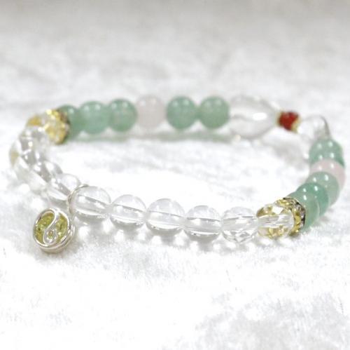 天然石ブレスレット 緑 01 (6mm珠)