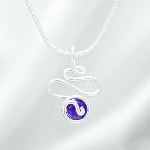 ジルコニアミニミニビッグウェーブ 紫