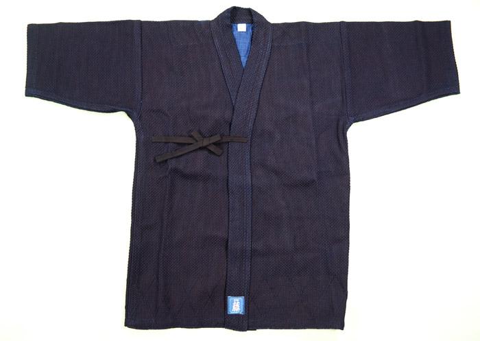 剣道衣 紺一重藤 武州正藍染 ウオッシュ 2.5~5号