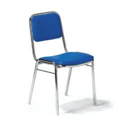 会議用チェア 4脚セット パイプ椅子 クロームメッキ脚 【肘掛なし】 AICO(アイコ) 【個人宅不可】MC-2000