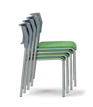 会議用チェア4脚セット パイプ椅子 粉体塗装脚 【肘掛なし】 AICO(アイコ) 【個人宅不可】 MC-201WG