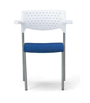 会議用チェア 4脚セット パイプ椅子 粉体塗装脚 【肘掛付】 AICO(アイコ) 【個人宅不可】 MC-202WG
