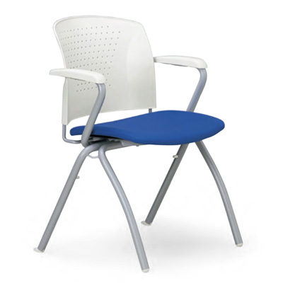 【スタッキング可】空間に変化を持たせる華やかなカラー。脚部が特徴の会議用チェア2脚セット。AICO【MC-314WG】