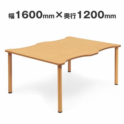 【送料無料】施設テーブル 粉体塗装脚 幅1600×奥行き1200 AICO(アイコ) 【個人宅不可】 NST-1612