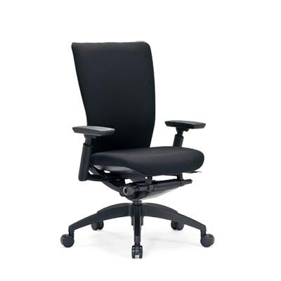 【送料無料】オフィスチェア ミドルバック 可動肘 樹脂脚 AICO(アイコ) 【個人宅不可】 R-5515