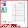 壁掛行動予定表 ホワイトボード 書庫用ボード・裏面マグネット付き 350×600(外形寸法360×600) スチール FB637Q