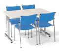 会議用テーブル 幅1200×奥行750 角形 クロームメッキ仕上脚 AICO(アイコ) 【個人宅不可】 MT-1275K