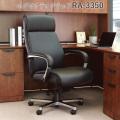 オフィスチェア ブラック エグゼクティブチェア ハイバック アームレスト付き AICO(アイコ) 【個人宅不可】 RA-3350