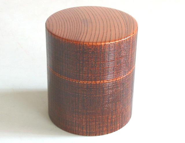 ミニ茶筒 欅 (製造中止) 木製 漆塗り