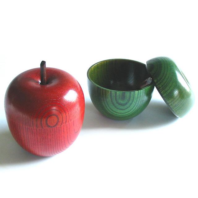 りんごっこカップ 欅 木製 漆塗り シュガーポット
