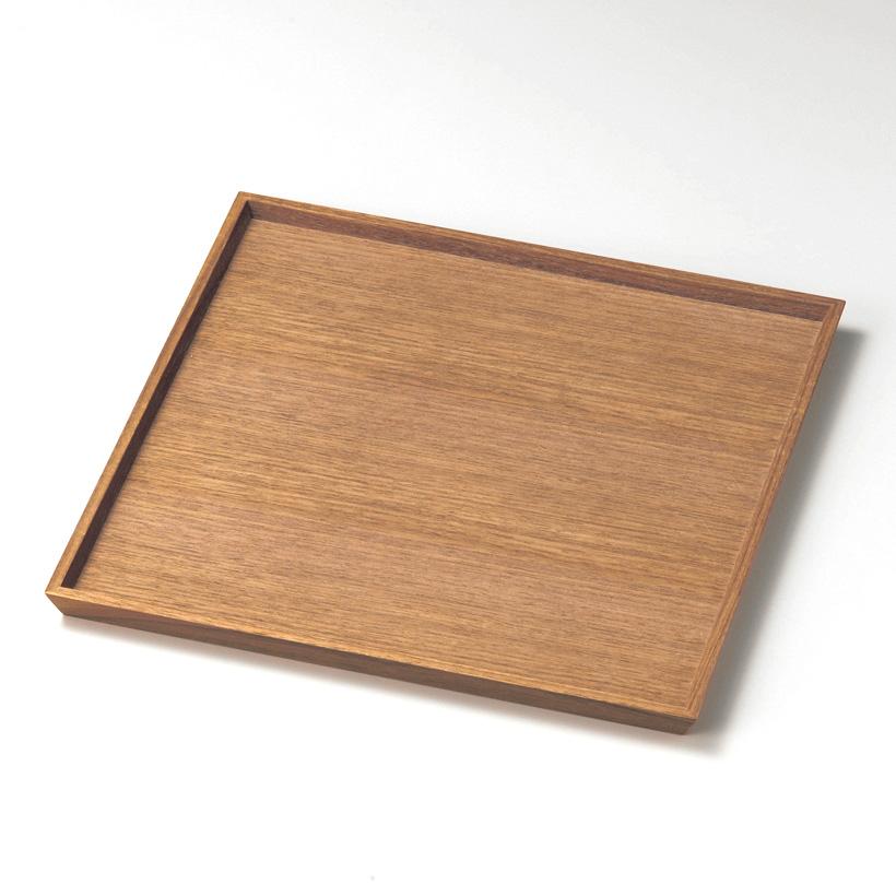 角盆 10.0 ウォールナット 木製