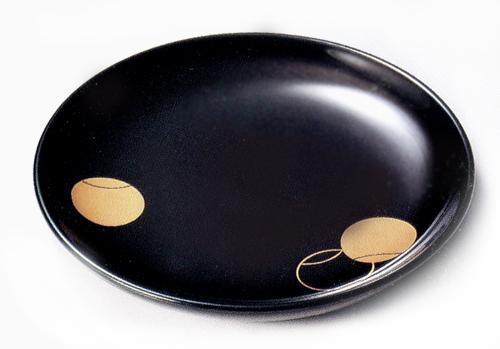 銘々皿 つぼつぼ 黒 【送料無料】木製漆塗り 取り皿・小皿 10-06106