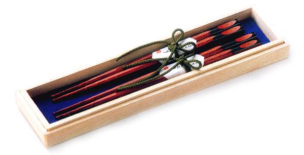 夫婦塗箸 樹輪  木製 漆塗り(製造中止)