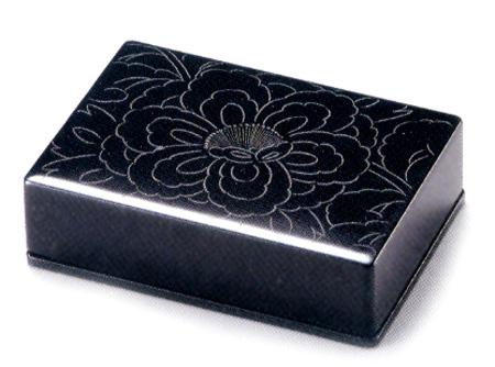 名刺箱 牡丹彫(製造中止) 漆塗り 名刺ケース・名刺入れ