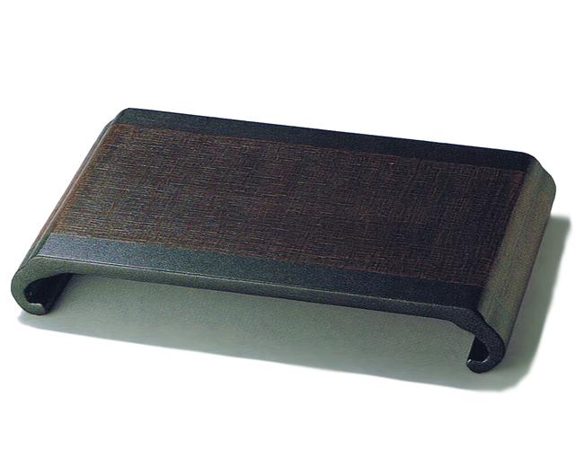 花台 布着せ 黒  木製 漆塗り 花瓶(製造中止)