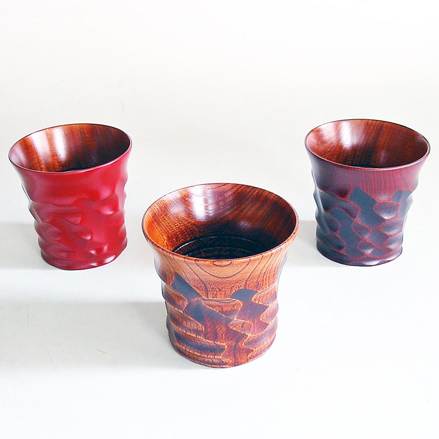 はつりカップ 欅 木製 漆塗り
