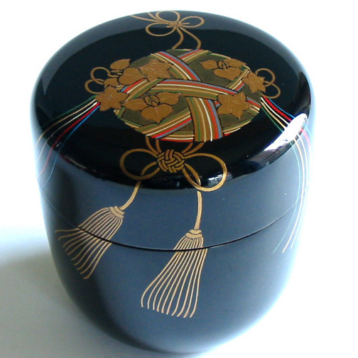 中棗 薬玉蒔絵 【送料無料】 (製造中止)木製 漆塗り お茶道具