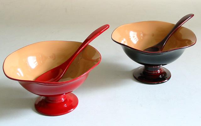 ペアスイーツカップ (製造中止) 漆塗りデザートカップ