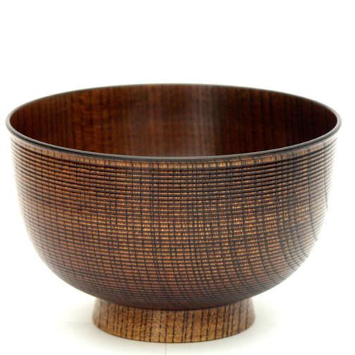 汁椀 千筋 玉渕 木製 漆塗り 木のお椀・味噌汁椀