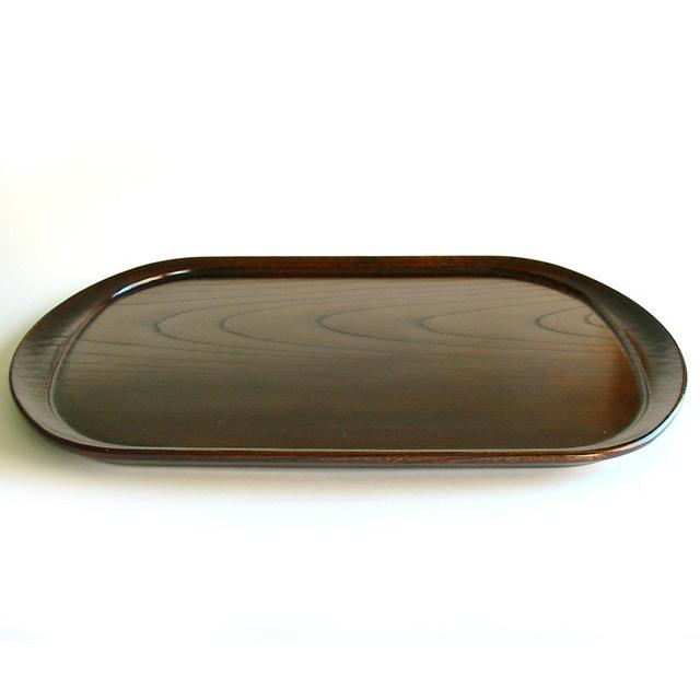 楕円盆 和楽 欅 【送料無料】 木製 漆塗り トレー