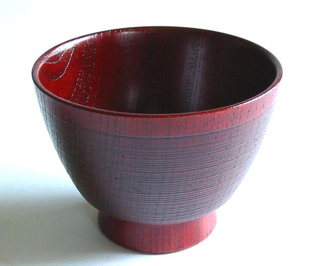 自遊椀 糸目 欅 (製造中止) 木製 漆塗り 木のお椀・味噌汁椀