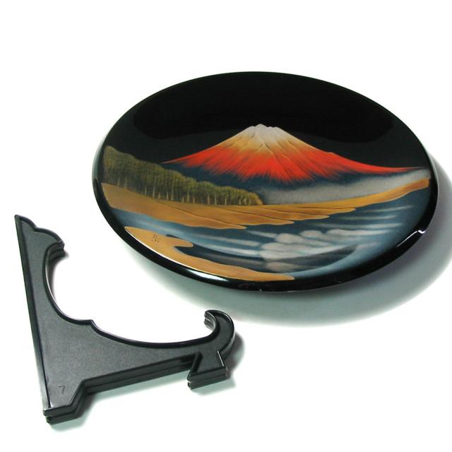 飾り皿 富士に松原