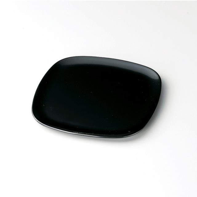 胴長銘々皿 黒 5枚セット【送料無料】 漆塗り・木製