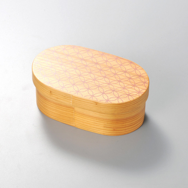 七宝 日本の弁当箱 小判 【送料無料】  木製