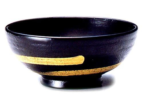 飯椀(大) 金一筆 蒔地 黒(製造中止) 木製 漆塗り 木のご飯茶碗