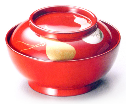 小煮物椀 瓢 5客セット 【送料無料】 漆塗り 10-01803