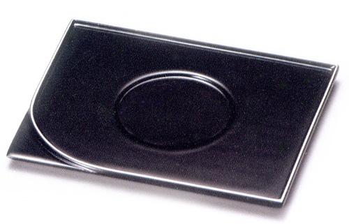 平安茶托 黒縁銀 5枚セット(製造中止) 木製 漆塗り