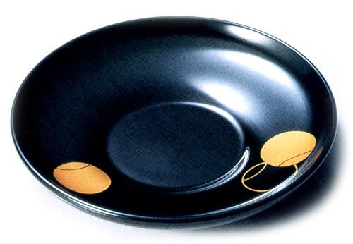 茶托 つぼつぼ 黒(製造中止) 木製 漆塗り