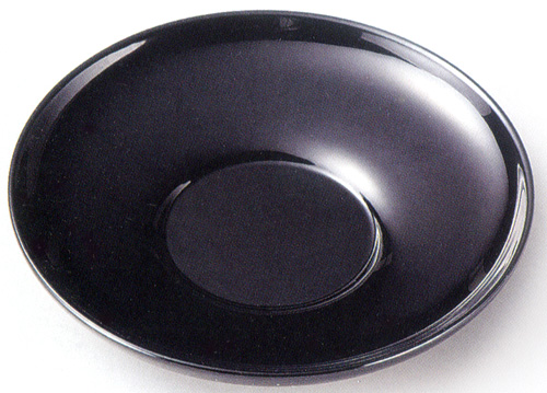 茶托 黒 4寸 5枚セット 【送料無料】 木製 漆塗り