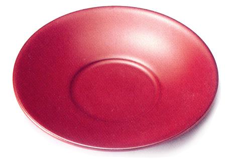 茶托 古代朱 5枚セット(製造中止) 【送料無料】 木製 漆塗り