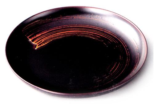 銘々皿 錆一筆 溜 (製造中止) 漆塗り 取り皿・小皿