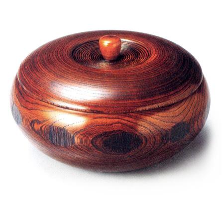 菓子器 ふき漆(製造中止) 木製 漆塗り 蓋付き鉢