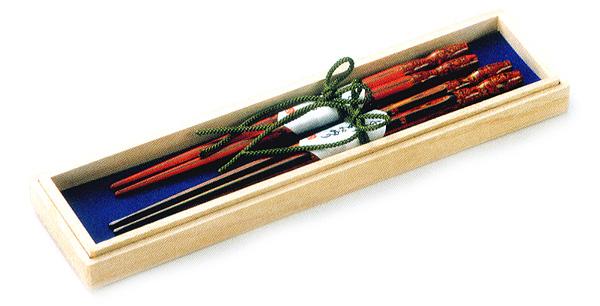 夫婦塗箸 ひさご 黒・朱(製造中止) 木製 漆塗り