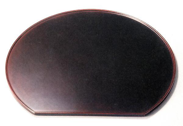尺3半月膳 溜 【送料無料】 木製 漆塗り ランチョンマット 10-08606