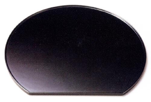 尺3半月膳 黒 【送料無料】 木製 漆塗り ランチョンマット 10-08605
