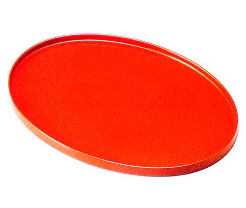 オーバル盆 洗朱(製造中止) 木製 漆塗り トレー