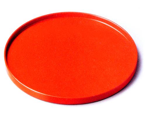 丸盆 洗朱 【送料無料】 木製 漆塗り トレー
