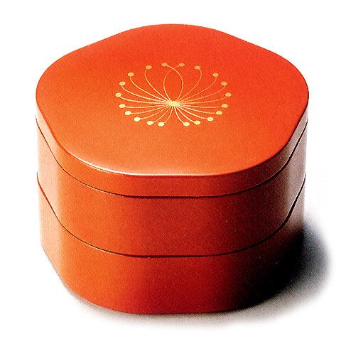福梅弁当箱 朱(製造中止) 漆塗り ランチボックス
