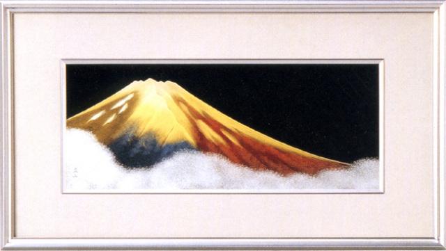 パネル 金富士 大 【送料無料】 漆塗り アート インテリア